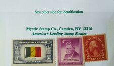 Set (3) Classic Mint U.S.Stamps:Flag of Belgium, George Washington & Will Rogers