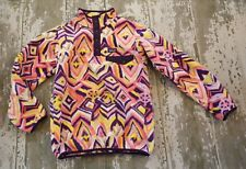 PATAGONIA Long Sleeve SYNCHILLA SNAP T Fleece Pull Over Coat Jacket Pattern XL