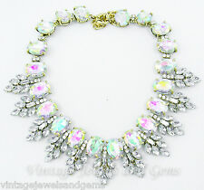 IRIDESCENT AURORA BOREALIS CRYSTAL RHINESTONE Chunky Collar Statement Necklace