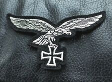 REPRO GERMAN LUFTWAFFE SILVER EAGLE IRON CROSS PATCH WW2 STYLE BRAND NEW BADGE