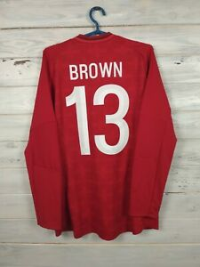 Brown England Jersey 2012 2013 XL Long Sleeve Shirt Umbro Ciprus Cup Football