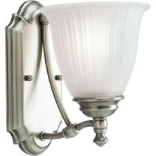 Progress Lighting Renovations Collection 1-Light Antique Nickel Bath Sconce