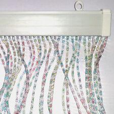 Tenda uscio PVC zanzariera facile da montare 125x240 cm MADE IN ITALY MULTICOLOR