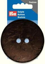 Kokos Knopf lackiert 70 mm dunkel braun 1 Stück Prym 318218 Knöpfe Natur