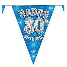 """Glitter """"Happy Birthday"""" Buntings Holographic Party Decor Number & Wordings Flag"""