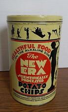 Late-1950's NEW ERA Scientifically Processed Potato Chips One Pound Tin DETROIT