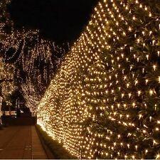 880LED 4M*6M Bulb Mesh Net String Fairy Lights Warm White Wedding Party Garden