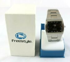NEW Freestyle Illusion Shark Watch Silver Mens Quartz Stainless Steel in Box