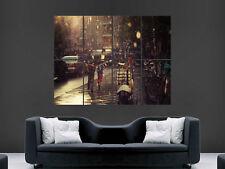 VESPA SCOOTER MOTO CLASSIC Pioggia Muro Gigante Poster ART PICTURE PRINT GRANDE ENORME