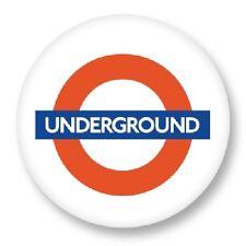 Pin button badge london underground symbols ø38mm metro urban transport