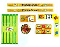 FISHER-PRICE Little People 992 CAR & CAMPER REPLACEMENT LITHOS STICKERS