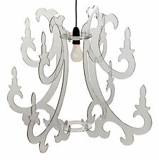 Grand lustre suspension Suspendu clair pendentif Plafond Abat-jour en acrylique