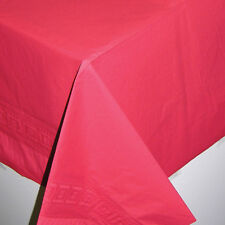 RED paper TABLECOVER Party Tablecloth plastic backing Ruby wedding tablecloth