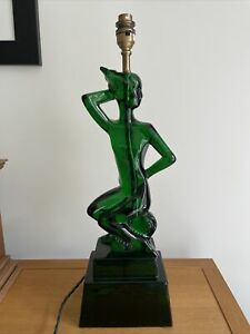 Pooky Tristan Green Resin Lamp Art Deco Style Statement Piece