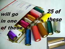 Hot Stamp Machine Stamping Foil Kingsley 25 Roll pk - 70 Colors + plus Canister