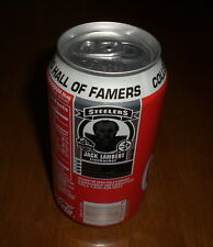 STEELERS HOF COCA COLA COKE CAN - YOUR CHOICE - BRADSHAW - LAMBERT - GREENE  HAM