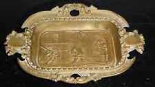 Antique French Cast Bronze Handled Dish Ashtray Exquisite!