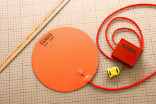 """Dia 10"""" Round Silicone Heater Kettle Vacuum Chamber Pad +Digital Thermostat 220V"""