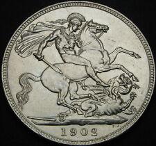 GREAT BRITAIN 1 Crown 1902 - Silver - Edward VII - XF+ - 275 ¤