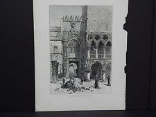 Picturesque Europe, Full Page Illustration #13 Entrance to the Doge's Palace