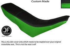 L GREEN & BLACK VINYL CUSTOM FITS GILERA GSM 50 DUAL SEAT COVER ONLY