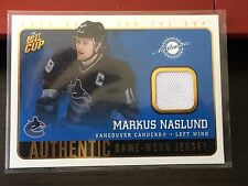 2002-03 Pacific Quest For The Cup Authentic Jersey #23 Markus Naslund