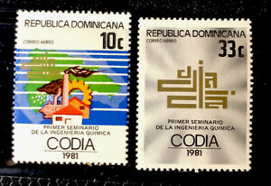 Dominican Republic Stamps Sc C347-C348 MNH
