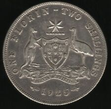 More details for 1925 australia george v silver florin coin | world coins | pennies2pounds