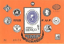 Mexico 1968 EFINEX Philatelic Exposition Souvenir Sheet MNH (SC# C345)