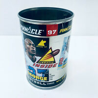 Pinnacle 97 NFL Football Empty Tin Can No Cards Inside Missing Lid