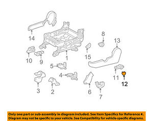 Pontiac GM OEM 05-08 Vibe Seat Track-Adjust Handle Cap Left 88974026