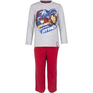 Pyjama Set nightclothes Boys Marvel Avengers Blue Grey Red 98 104 116 128 #12