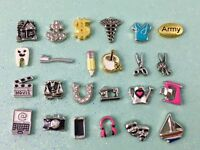 occupation and hobby charms for your floating  locket origami owl style