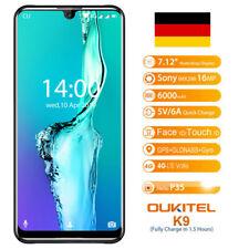 "7.12"" OUKITEL K9 Android 9.0 Octa Core 2.3GHz 4GB 64GB 6000mAh Dual SIM 4G Handy"