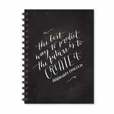 Motivational Quote Notebook Wire Bound Spiral Ruled A5 Black Diary 170 Pages