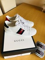 Genuine GUCCI Ace Trainers 36.5 (RRP £715) Sneakers Removable Patches