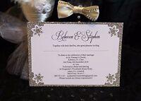 Personalised Wedding Day/Evening Invitation Invite RSVP Winter Snowflake Glitter
