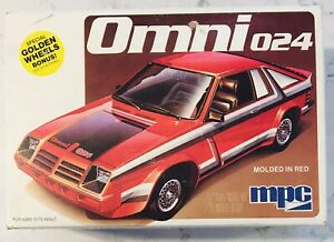 MPC 1979 DODGE OMNI 024 1/25 SCALE MODEL CAR KIT * PARTIALLY ASSEMBLED *