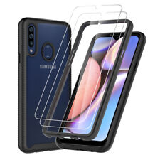 For Samsung Galaxy A20S A20 A50 Case Shockproof Armor Cover +HD Screen Protector
