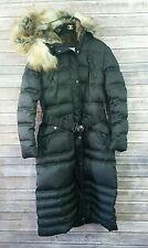 Laundry By Shelli Segal Women's Medium M Black Maxi Down Coat Parka Faux Fur