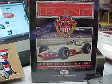 A J FOYT INDY AUCTION PAPER COPY WRAPED OVER CARDBOARD PHOTO LQQK