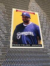 2008 UPPER DECK SPORT ROYALTY BREWERS PRINCE FIELDER GREEN BACK CARD # 321 MINT