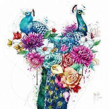 PEACOCK FLOWERS BY PATRICE MURCIANO ROCK SLATES-KEYRINGS-MUGS-ART PRINTS
