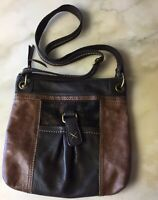 The SAK Kendra Crossbody Bag Brown Leather Patchwork Women's Shoulder Handbag