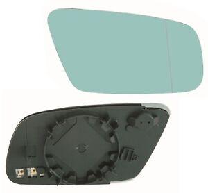 Spiegelglas rechts für Audi A3 A4 A6 A8 Außenspiegel Glas asphärisch Blau beheiz