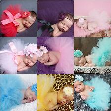 Bébé Nouveau Né Filles Jupe Tutu Serre-Tête Costume Photo Photographie