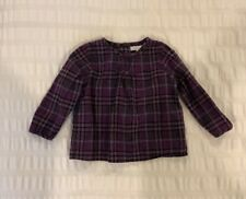 Burberry Baby Girls Plaid Shirt In Size 18 Months