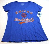 New York Knicks NBA Women's Premier Triblend Modest V-Neck Tee T Shirt New NWT