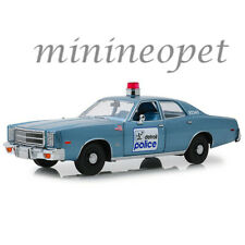 GREENLIGHT 19069 BEVERLY HILLS COP 1977 PLYMOUTH FURY DETROIT POLICE 1/18 BLUE
