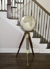 "National Geographic Eaton III 16"" Antique Floor Globe Nautical Gift Decor Item"